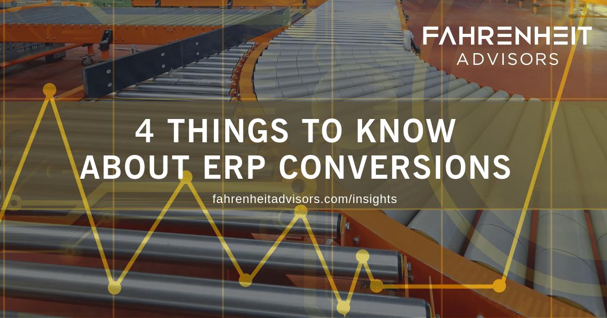 ERP conversions